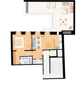 Apartamento T1 - 85m (com terraço de 56m)